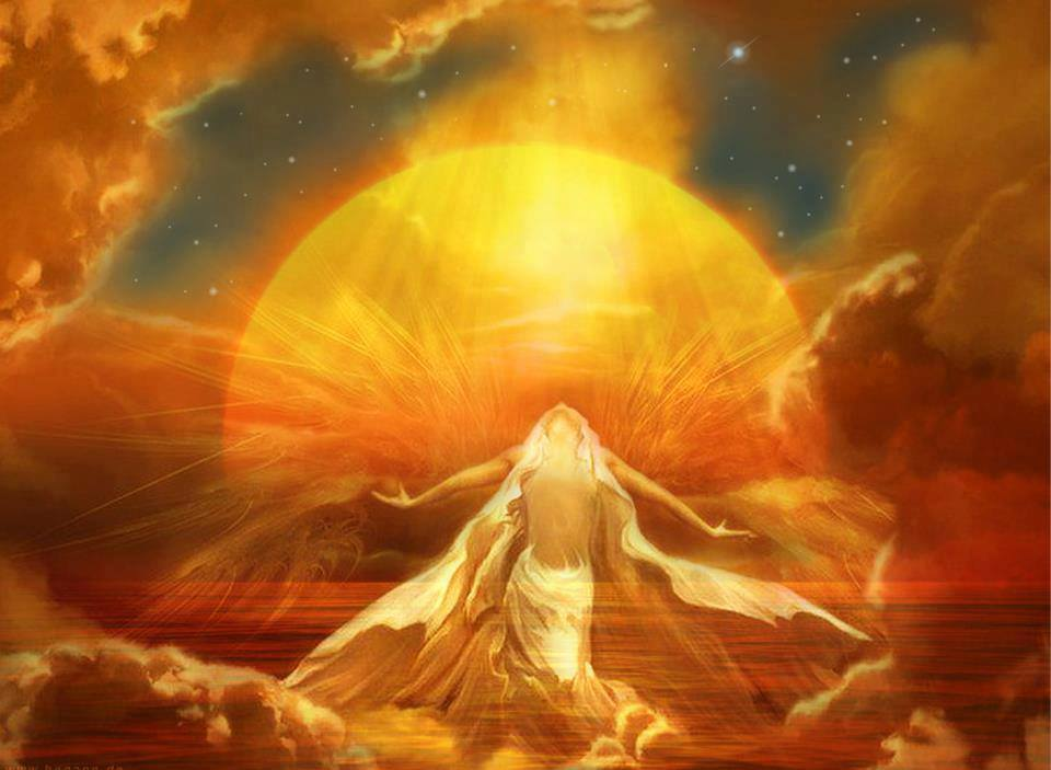 Golden Sun Divine Woman